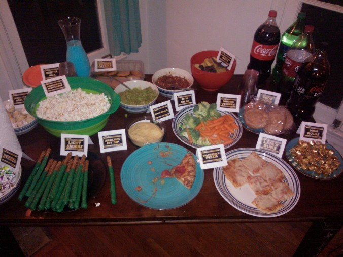 Went to a friend's birthday party over the weekend. I love that the grub had Star Wars names