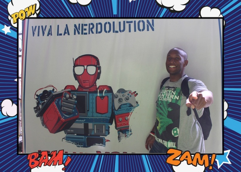 At my first Nerd HQ, Comic Con weekend