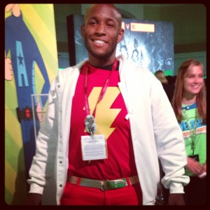 That's me as #StreetShazam! Captain Marvel has come to the hood!