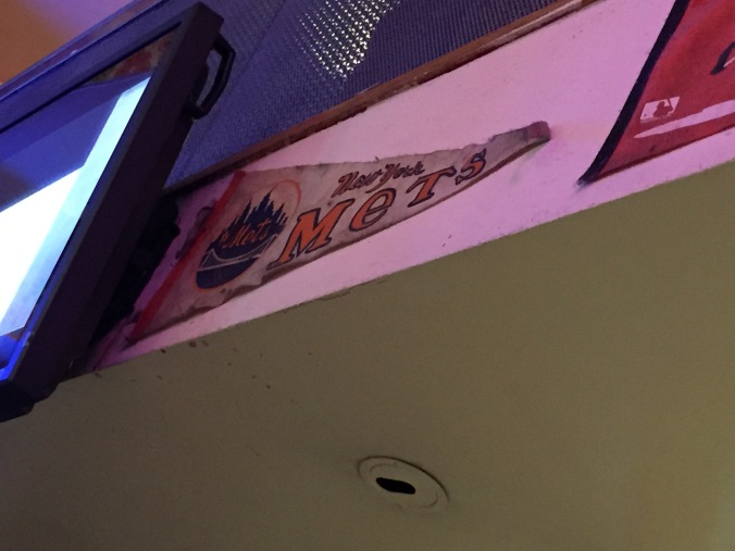 A vintage Mets pennant at Big Daddy Diner