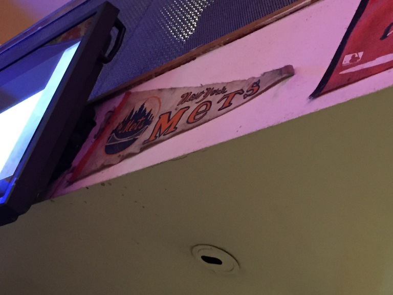 A vintage Mets pennant at Big Daddy Diner