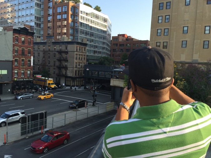 My brother took me to my first High Line experience!